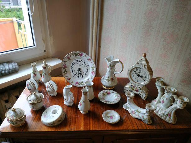 Porcelana z różą zestaw porcelany chodzież