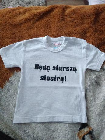 """Koszulka 80-86 """"Będę starszą siostrą""""Wysyłka 8,99 zł!"""