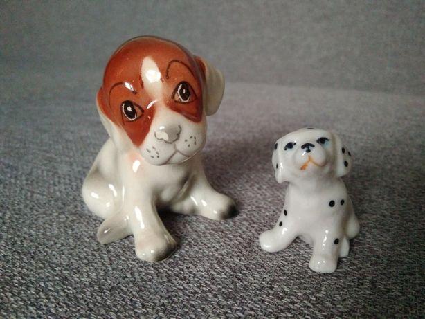 Ceramiczne figurki zwierzeta pies