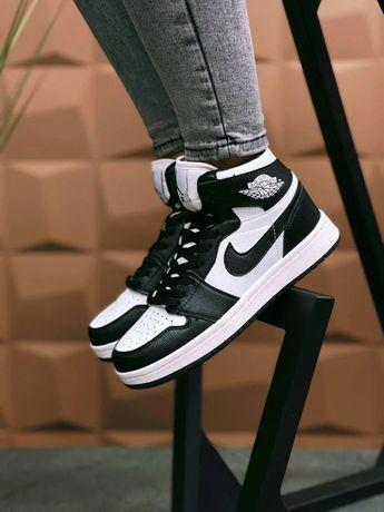 Женские кроссовки Nike Air Jordan N Black/White Баскетбольные кожаные