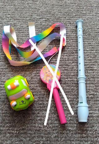 Zabawki, auto, flet, wstążka Barbie