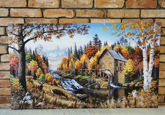 Obraz na płótnie Jesienny las Duży 120x70cm - Premium
