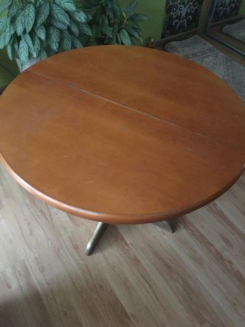 Drewniany, okrągły stół - rozkładany
