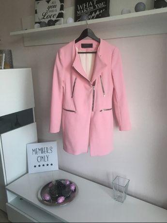 Płaszcz jesienny  ZARA XS S różowy stan idealny
