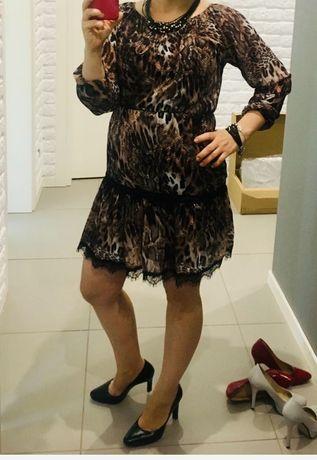Sukienka w panterkę rozmiar S