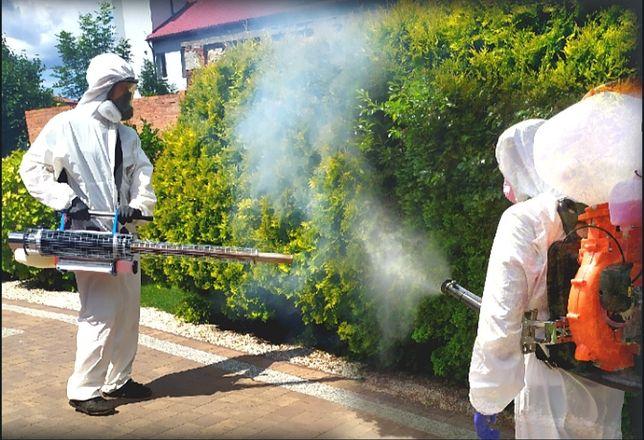 Odkomarzanie zwalczenie komarów kleszczy muszek mrówek usuwanie kretów