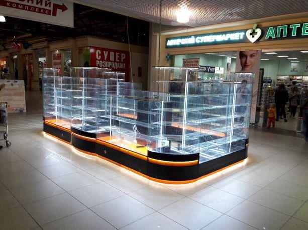 Торговое оборудование витрины остров торговый островок 3 d проект