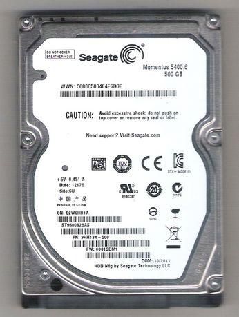 """Продам недорого жёсткий диск SEAGATE 2,5""""(SATA), 500 гб, для ноутбука."""