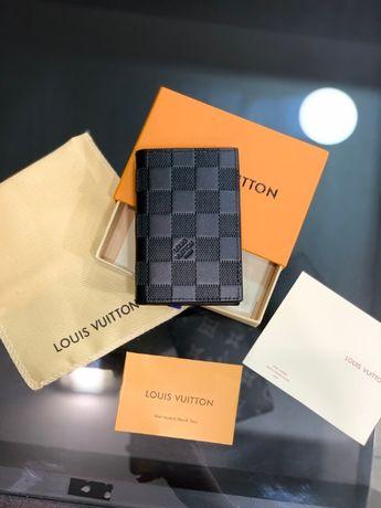 Мужской кардхолдер кошелек бумажник визитница LV Louis Vuitton k300