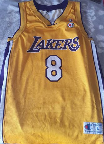 Camisola Lakers vintage, época 2001, tamanho L