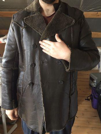 Курточка шкіра осінь зима піджак дубльонка