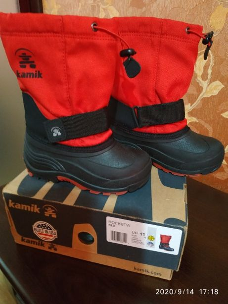Зимние термо сапоги, сноубутсы, чоботи, Камик, оригинал р.28, 11 USA