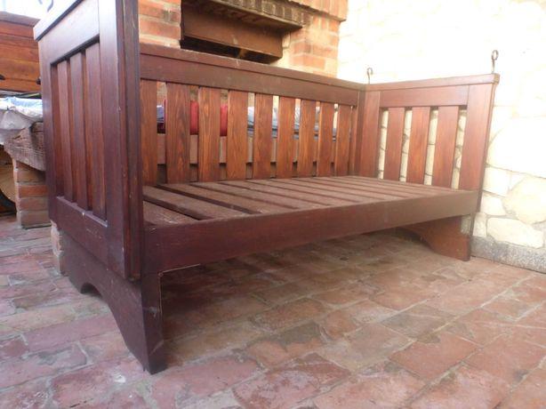 Ławka huśtawka siedzisko drewniane + lina