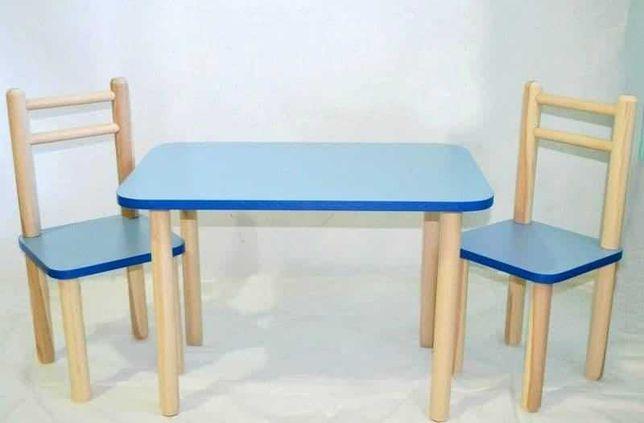 Стол и стул детский синий цвет .Для детей 2-6 лет(арт 22).Для детей