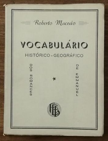 vocabulário histórico-geográfico, roberto macedo