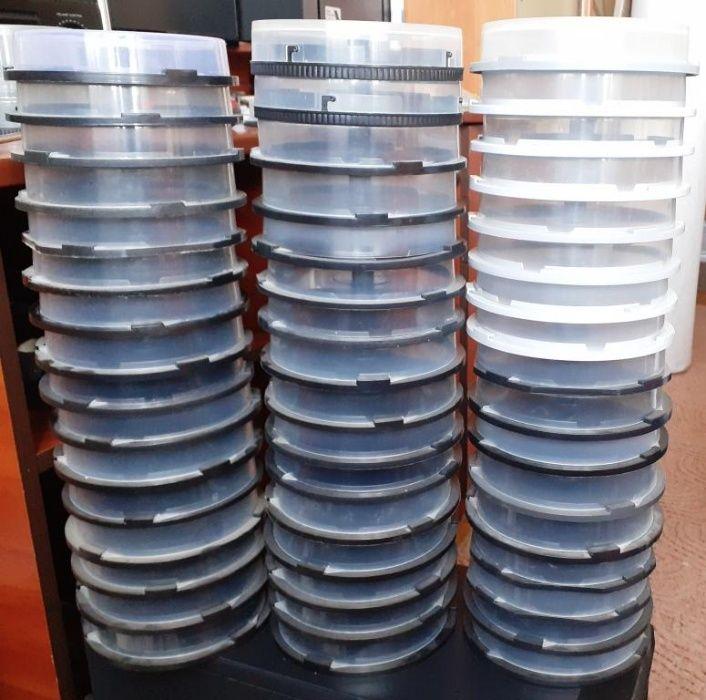 для dvd и cd дисков коробочки круглые 60 шт по 1 грн Киев - изображение 1