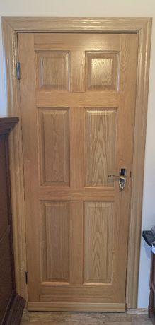 Skrzydło drzwiowe dąb