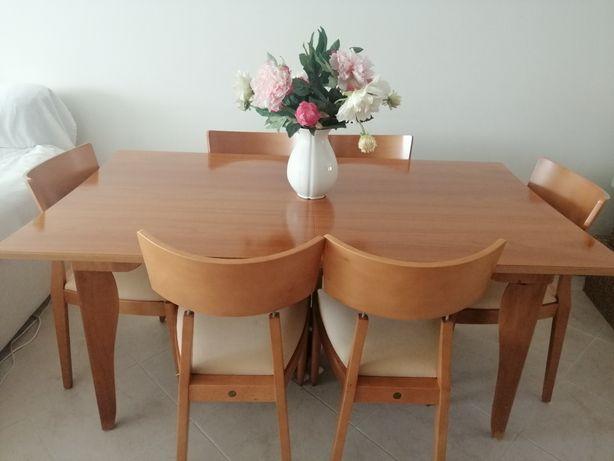Mesa sala+6 cadeiras