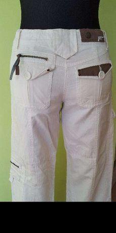 Funky Girl XS Nowe Spodnie Wstawki Ekoskóra r36-38
