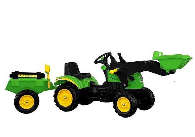 Traktor Herman z Przyczepą i Łyżką 165cm Dwa kolory Darmowa Wysyłka