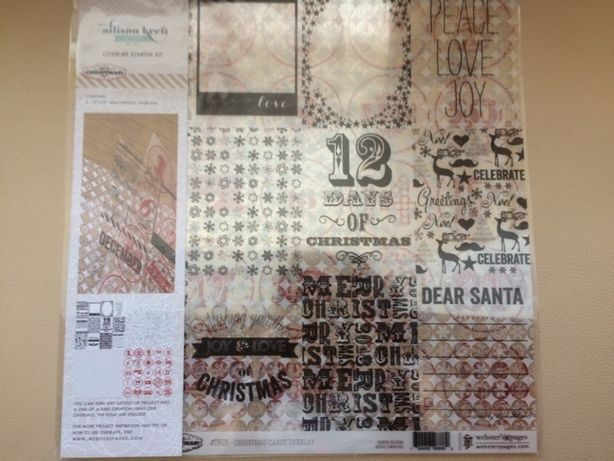 Веллум Webster's Pages It's Christmas 30х30см, 4л. Велум Alison craft