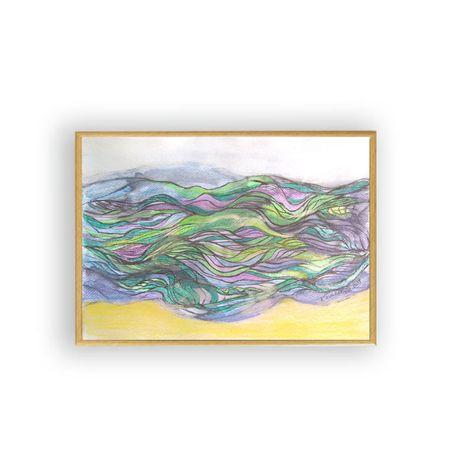 Nowoczesny obraz z morzem,morze obraz,morze rysunek,abstrakcja obraz