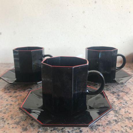 3 chávenas hexagonais