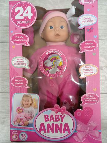 Lalka mówiąca baby Anna bayer 38cm