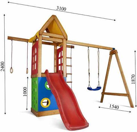 Детские площадки, домик, горка, лестница, качеля, гладиаторка