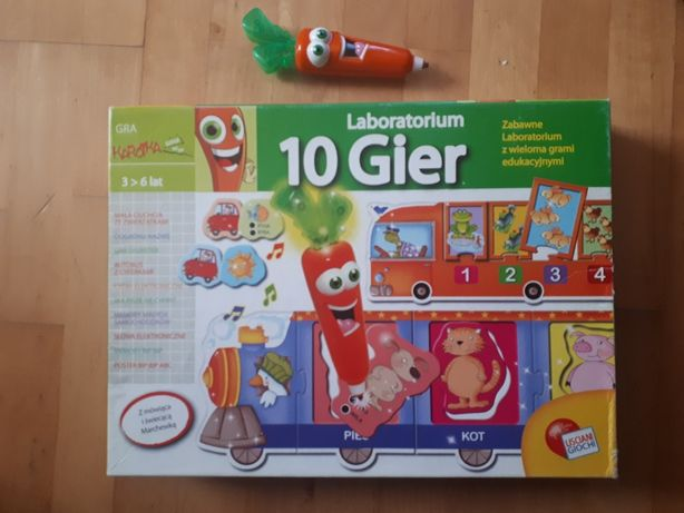 Gra Carotina Laboratorium 10 gier Karotka Lisciani literki liczby +pen