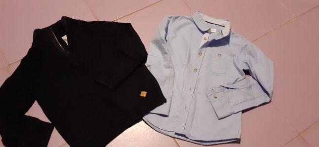 Koszula i sweter Reserved i ZARA rozm. 116cm