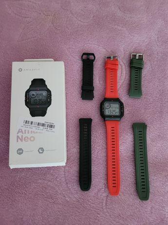 Smartwatch Amazfit neo impecavel com pulseiras extra