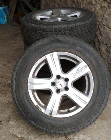 Felgi MAK r16 ET35 PCD100 opony Dunlop 215/65 Subaru