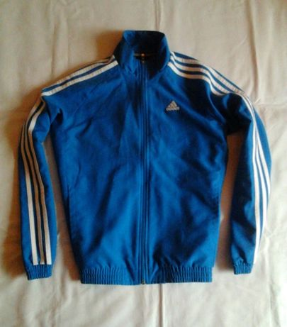Kurtka dresowa Adidas Essentials Climate niebieska vintage dres nike
