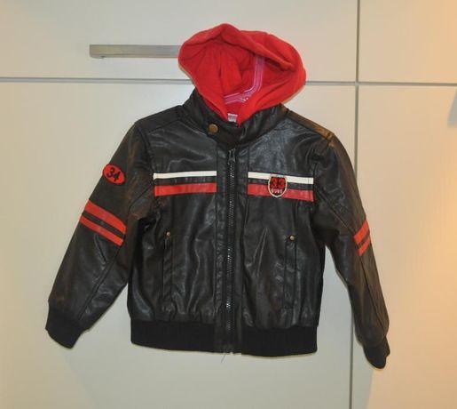 czarna kurtka eko skóra :) biker 3-4 lata 98 104