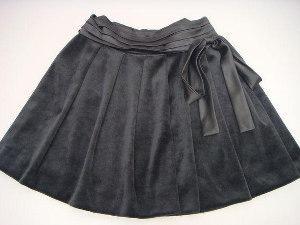 czarna aksamitna spódnica Zara dla dziewczynki 9-11 lat - jak nowa