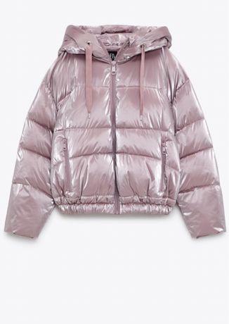 Nowa pikowana kurtka z kapturem M
