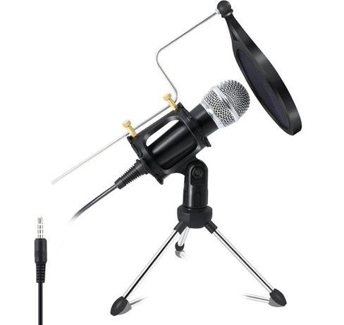 Kit Microfone condensador profissional 3.5mm