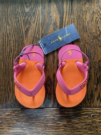Okazja! Sandałki dla dziewczynki Polo Ralph Lauren roz. 21