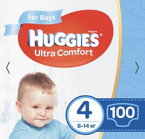 Подгузники Huggies для мальчиков 4 100 штук на 8-14 кг