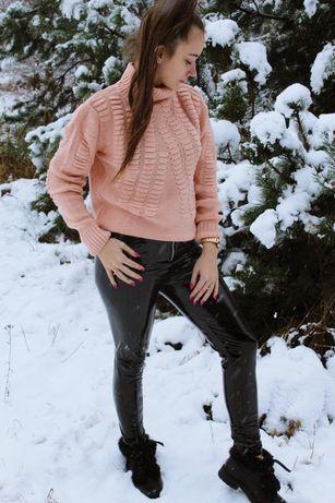 Sweter morelowy Calben