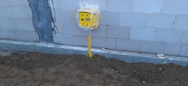 Przyłącza gazowe montaż kotłów gazowych.