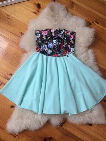 sukienka rozkloszowana rozmiar 40