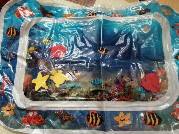 Mata wodna ocean rybki 3 D