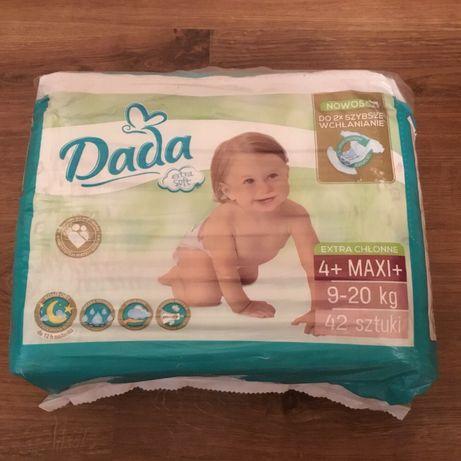 Новые памперсы  DADA  extra soft 4 + MAXI ,42 шт.