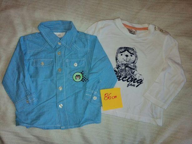 Zestaw koszula i bluzka 86 dla chłopca