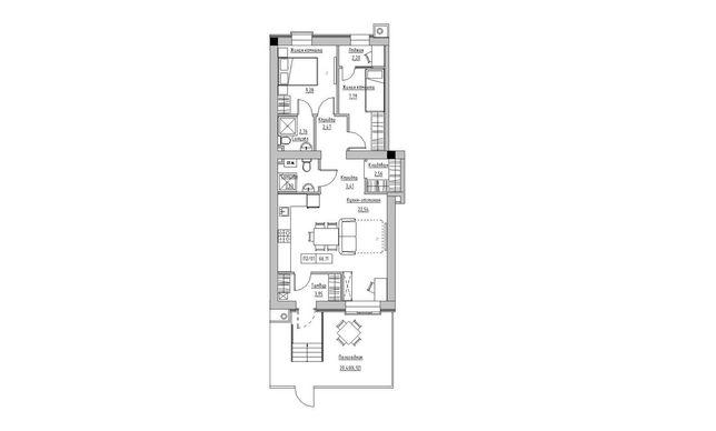 Продам Эксклюзивную двухкомнатную квартиру в Рассрочку с Ремонтом