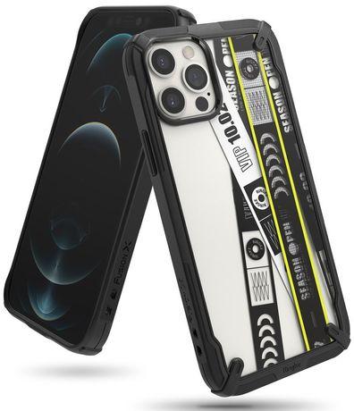 Capa Silicone Ringke Iphone 12 E 12 Pro Fusion X - Preto