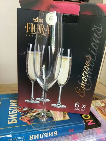 Набор бокалов для шампанского ТМ Fiora