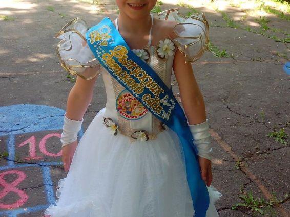 платье бальное детское снежинка